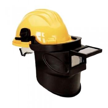 Máscara Cabeça Soldadura 415-A c/ Capacete Amarelo