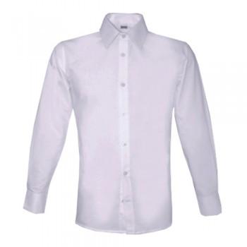 Camisa Homem Poplin Manga Comprida Branca MK400