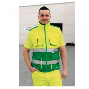 Colete PU MB Amarelo Florescente/Verde FR HV719 Baxter Juba