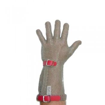 Luvas Malha Aço 5D Chainex nº3 (M/8,5) Vermelha