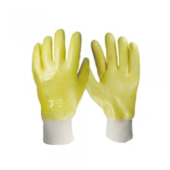 Luvas Nitrilo Amarelo Punho Malha Costa Fechada N204 (3121) Palanca
