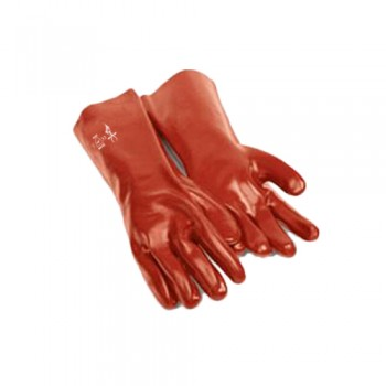 Luvas PVC 35 cm (HK35) Vermelha P203 EN 388:4121 Palanca