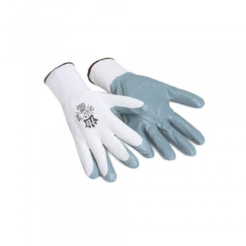 Luvas Nylon/Nitrilo 700G Touch (Matrix F Grip) Branco/Cinza