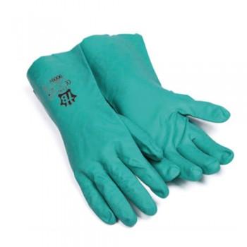 Luvas Nitrilo Flocado Prot. Química 33 cm 9009F EN 374:AJK366