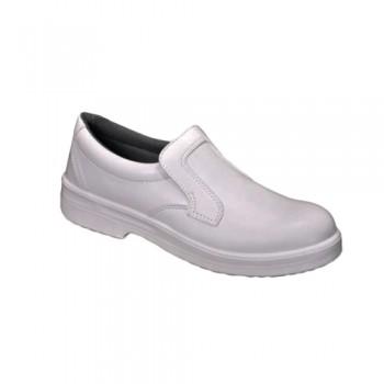 Sapatos Safe Way c/ Pala Ref. P322 Branco S2 Hidrof.+Biq. Aço