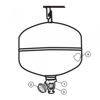 Extintor Pó Químico Automático 6kg PS6-AH ANAF