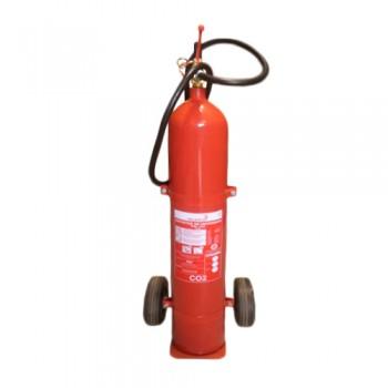 Extintor CO2 10 kg c/ Carro Eficácia 144B Palanca