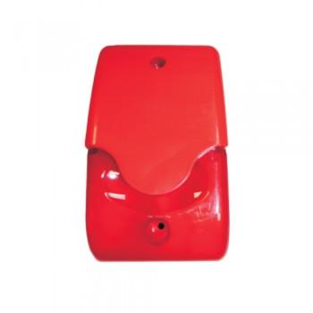 Sirene Fogo Convencional 24V Vermelha Int c/ Strob LDFS1P
