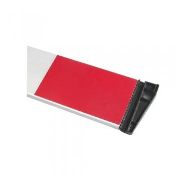 Barra Extensível 2 mt Vermelha/Branca c/ Anéis nas Extremidades