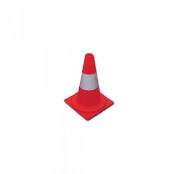 Cone Sinalização PVC 45 cm 1 Fita Reflectora Palanca