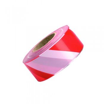 Fita Sinalização Vermelho/Branco (rolo 200 mts)