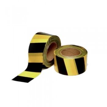 Fita Sinalização Amarelo/Preto (rolo 200 mts)
