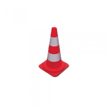 Cone Sinalização Polieliteno 50 cm 2 Bandas Pintadas