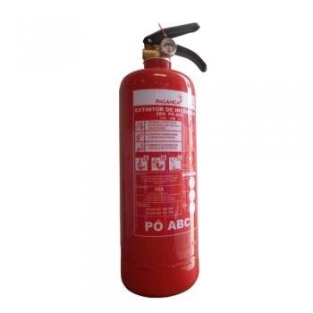 Extintor Pó Químico ABC 2 kg Eficácia 13A-34B e C Palanca