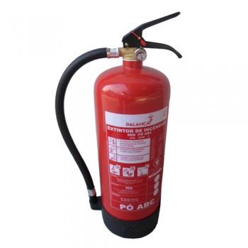 Extintor Pó Químico ABC 6 Kg Eficácia 27A-183B e C Palanca