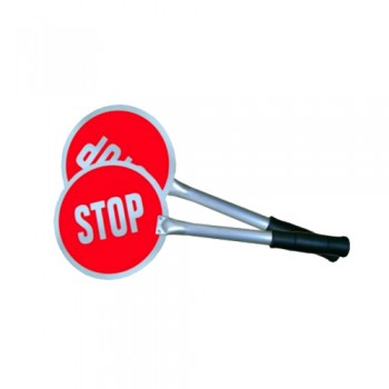 """Raquete de Sinalização """"STOP"""" ET1 em Alumínio de 200x2mm"""