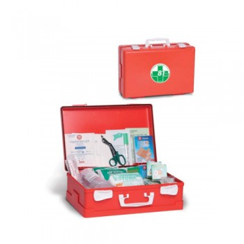 Caixa Primeiros Socorros CPS517 395x270x135 c/ Suporte Parede