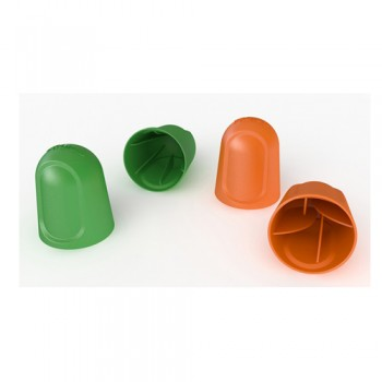 Cápsula Protecção Cogumelos 20-25-32 mm Verde e Cápsula Protecção Cogumelos 8-10-12-16 mm Laranja