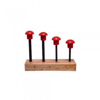 Cogumelo p/ Protecção Varão de Ferro entre 12 a 24 mm Palanca